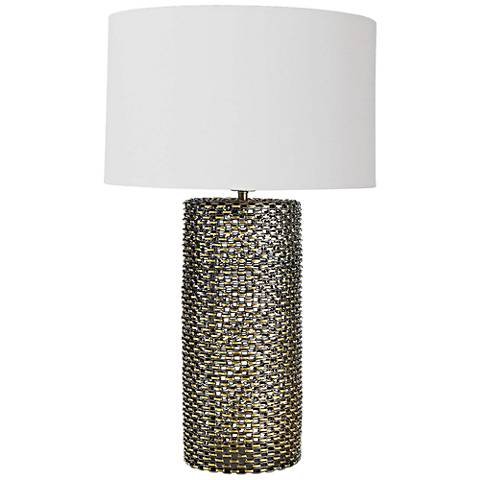 Regina Andrew Cowser Antique Brass Chain Link Table Lamp