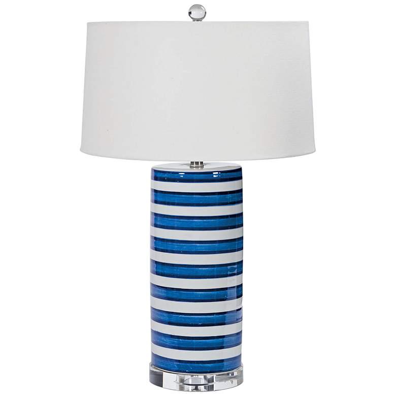 Regina Andrew Nelson Striped Ceramic Column Table Lamp