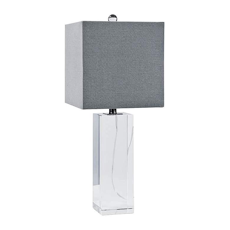 Regina Andrew Roberts Crystal Block Table Lamp