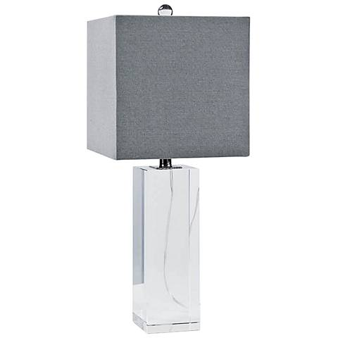 Regina Andrew Roberts Crystal Block Table Lamp