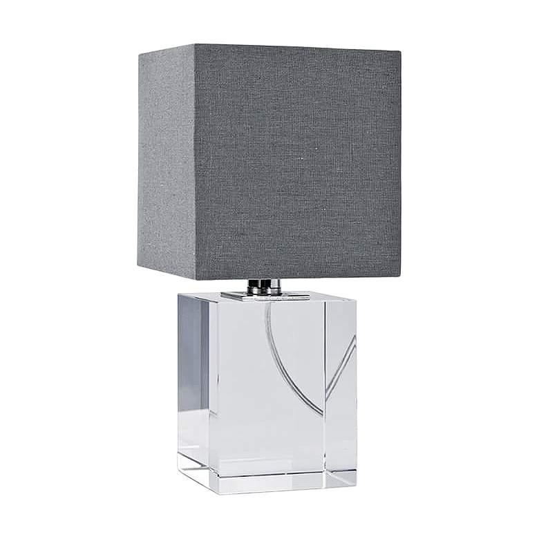 "Regina Andrew Roberts Crystal Block 12""H Accent Table Lamp"