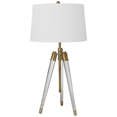 Regina Andrew Brigitte Natural Brass Adjustable Table Lamp