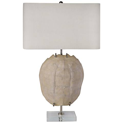 Regina Andrew Turtle Shell Exhibit Bleached Table Lamp