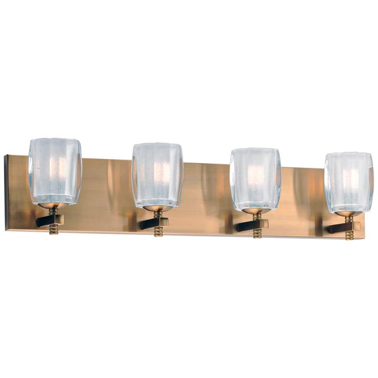 """Maxim Bravado 26"""" Wide Golden Bronze 4-LED Bath Light"""