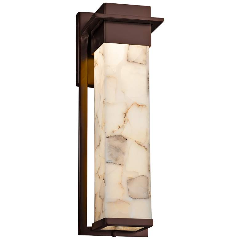 "Alabaster Rocks!™ Pacific 16 1/2""H LED Outdoor Wall Light"