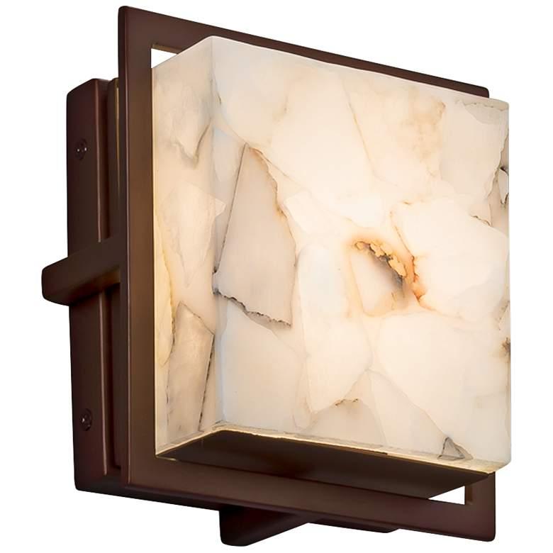 """Alabaster Rocks Avalon 6 1/2""""H Bronze LED Outdoor"""
