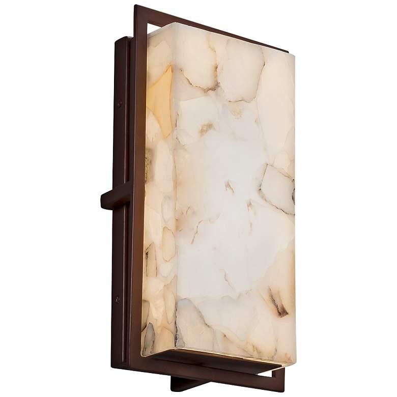 "Alabaster Rocks!™ Avalon 12""H Bronze LED Outdoor Wall Light"