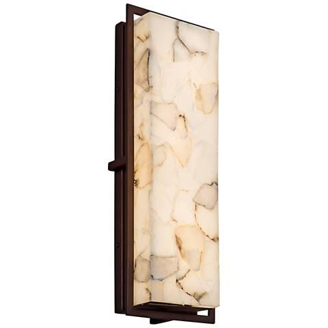 "Alabaster Rocks!™ Avalon 18""H Bronze LED Outdoor Wall Light"