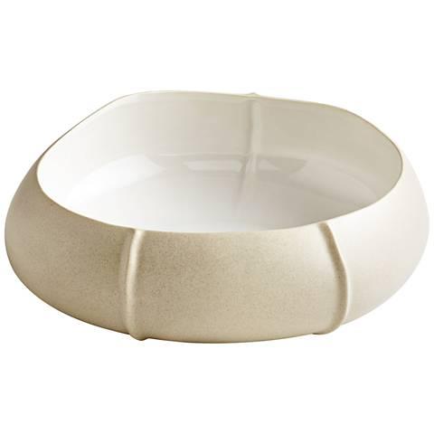Cyan Design Cotton Small Gloss White Ceramic Bowl