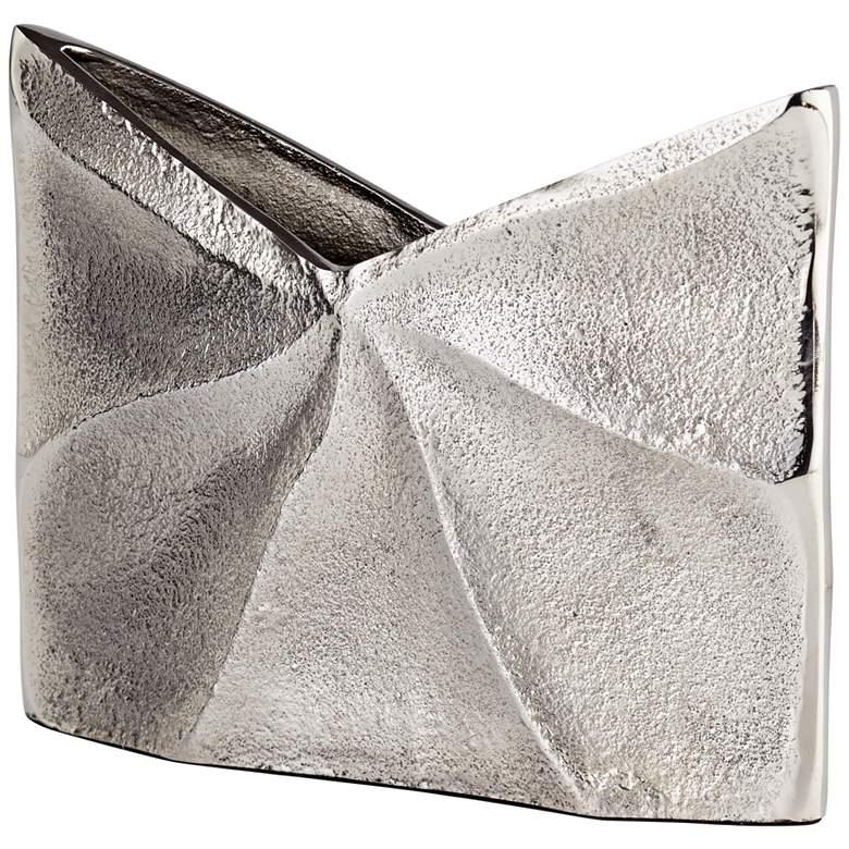 "Cyan Design Clarice Raw Nickel 7 3/4"" Wide Aluminum Vase"