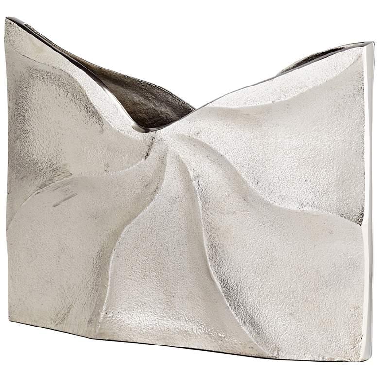 "Cyan Design Clarice Raw Nickel 11 1/2"" Wide Aluminum Vase"