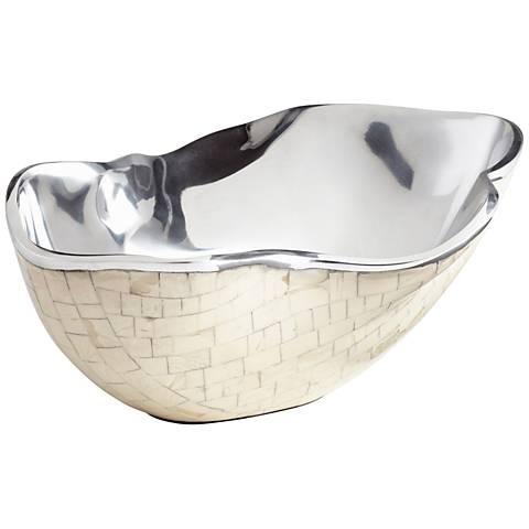 Cyan Design Bay Breeze Large Nickel Bowl