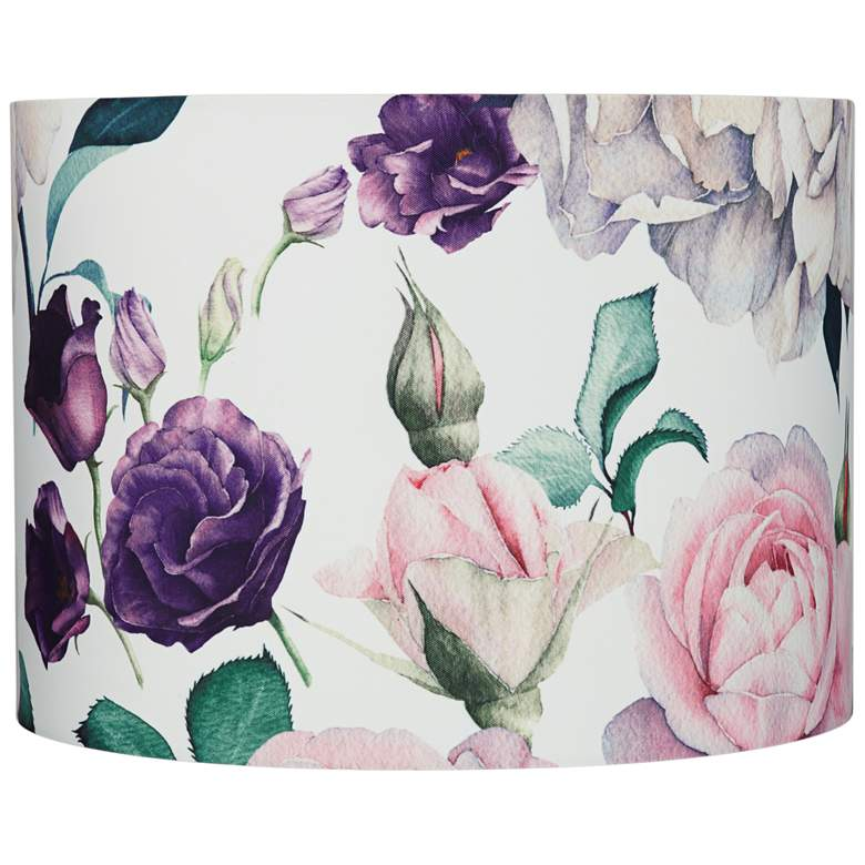 Blush Rose Floral Drum Lamp Shade 15x16x11 (Spider)