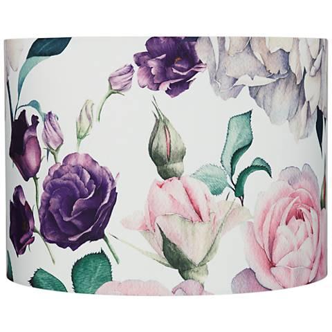 Blush Rose Floral Drum Lamp Shade 15x16x11 (Spider)