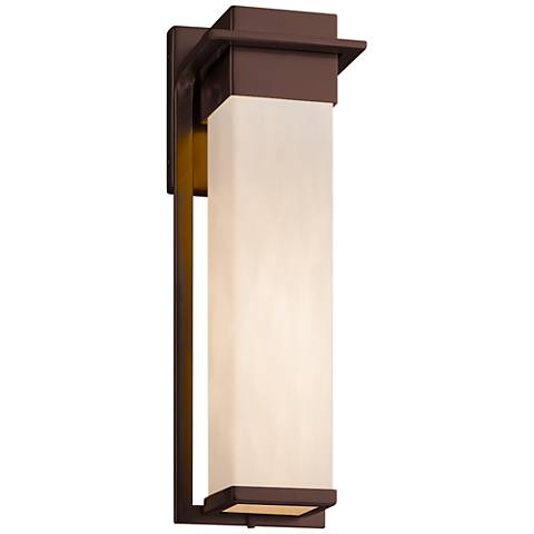"""Clouds™ Pacific 16 1/2""""H Dark Bronze LED OD Wall Light"""