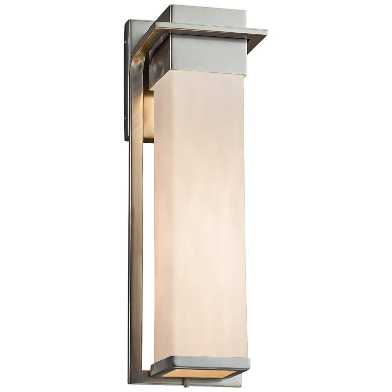 """Clouds™ Pacific 16 1/2"""" High Nickel LED Outdoor Wall Light"""