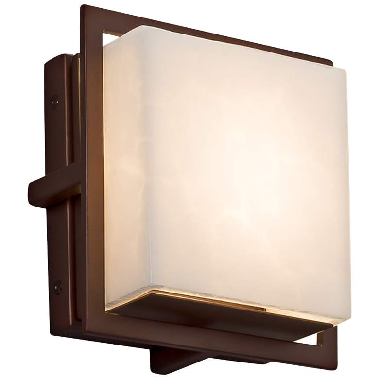 "Clouds™ Avalon 6 1/2""H Dark Bronze LED Outdoor Wall Light"