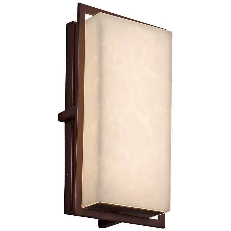 "Clouds™ Avalon 12"" High Dark Bronze LED Outdoor Wall Light"
