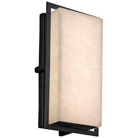 "Clouds™ Avalon 12"" High Matte Black LED Outdoor Wall Light"