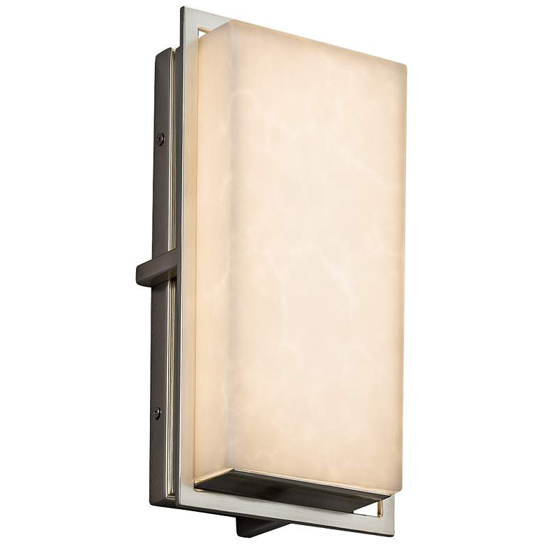 """Clouds™ Avalon 12""""H Brushed Nickel LED Outdoor Wall Light"""