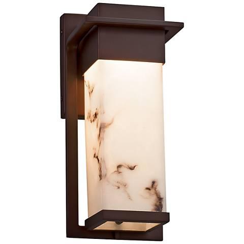 "LumenAria™ Pacific 12""H Dark Bronze LED Outdoor Wall Light"