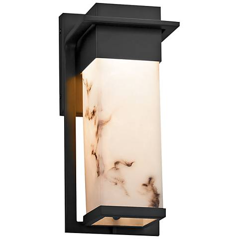"LumenAria™ Pacific 12""H Matte Black LED Outdoor Wall Light"