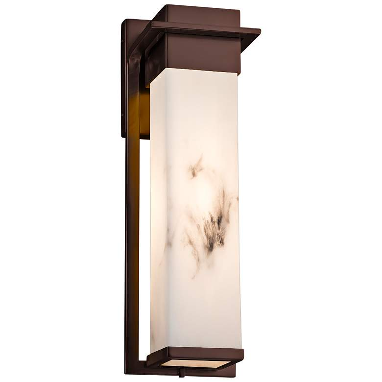"""LumenAria™ Pacific 16 1/2""""H Bronze LED Outdoor Wall Light"""