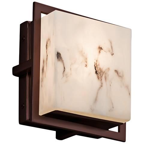 "LumenAria Avalon 6 1/2"" High Dark Bronze LED Outdoor Wall Light"