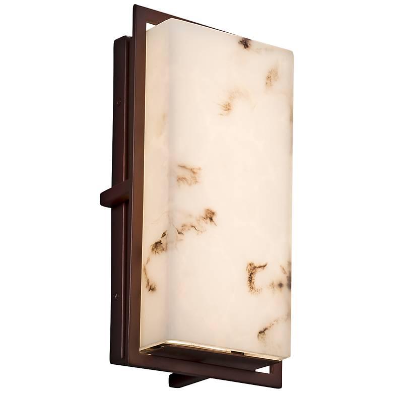 "LumenAria™ Avalon 12""H Dark Bronze LED Outdoor Wall Light"
