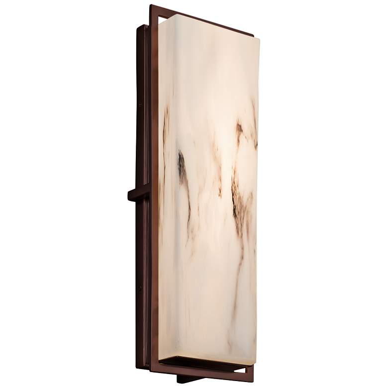 "LumenAria™ Avalon 18""H Dark Bronze LED Outdoor Wall Light"