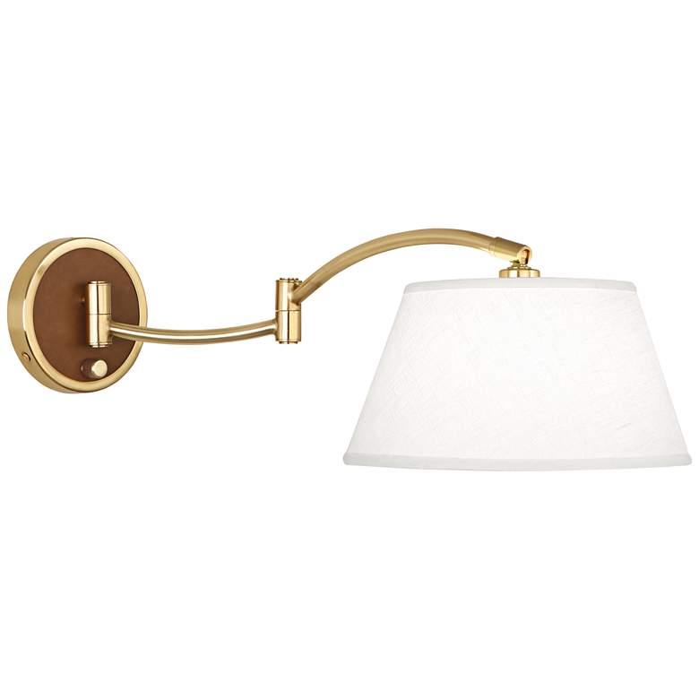 Robert Abbey Kyoto Modern Brass Plug-In Swing Arm Wall Lamp