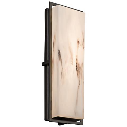 "LumenAria™ Avalon 18""H Matte Black LED Outdoor Wall Light"