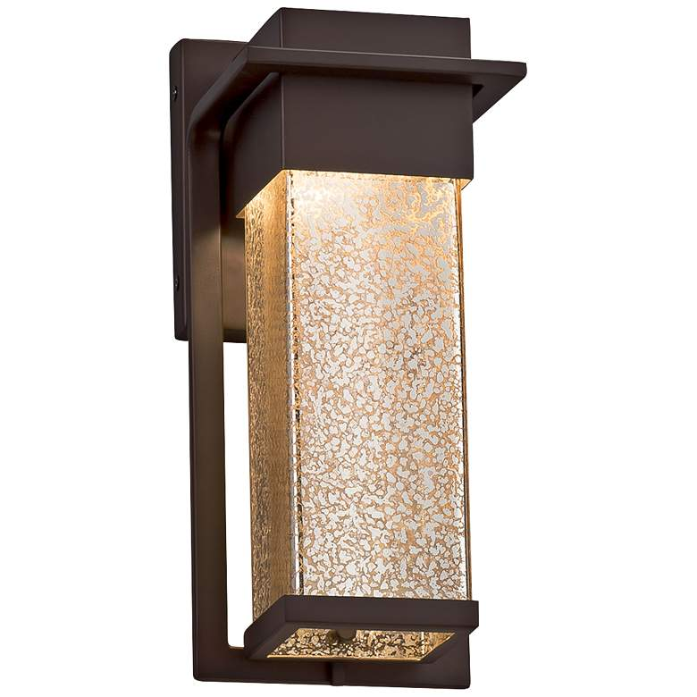 """Fusion™ Pacific 12""""H Glass Bronze LED Outdoor Wall Light"""