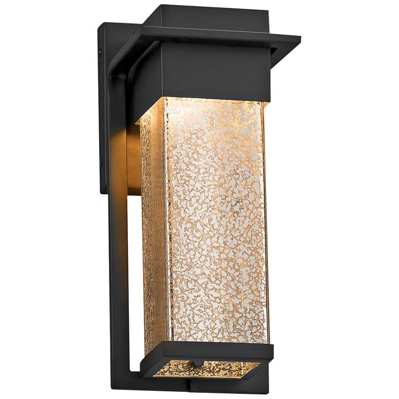 """Fusion™ Pacific 12""""High Glass Black LED Outdoor Wall Light"""