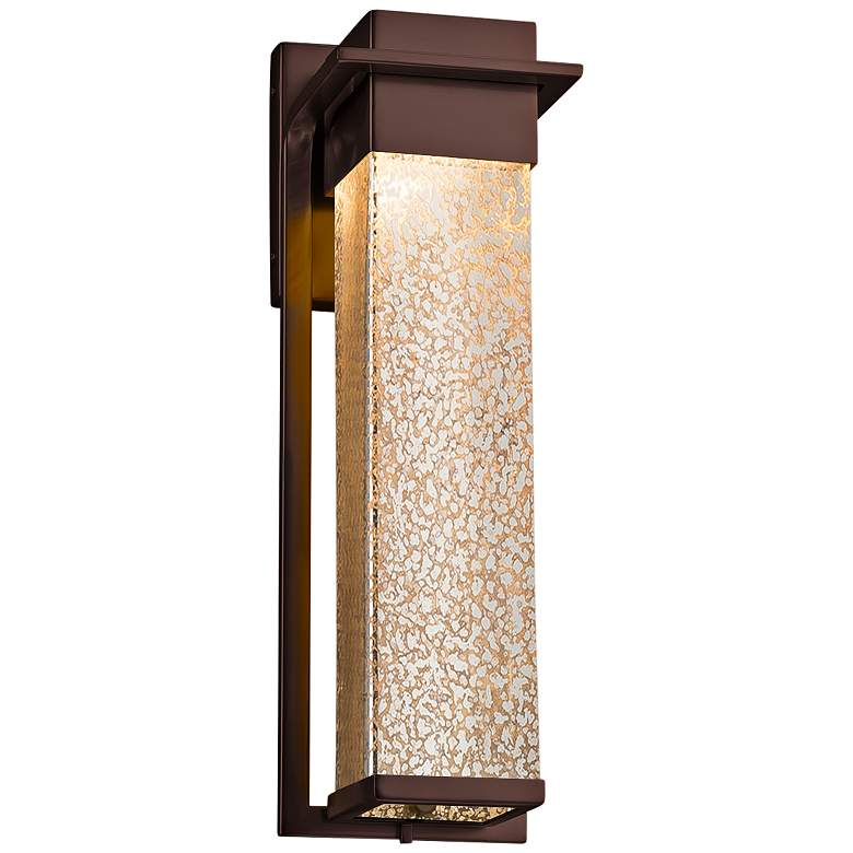 """Fusion Pacific 16 1/2"""" High Glass Bronze LED Outdoor Wall Light"""