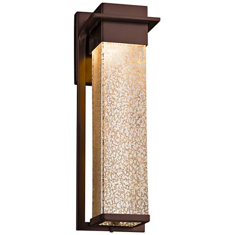"Fusion Pacific 16 1/2"" High Glass Bronze LED Outdoor Wall Light"