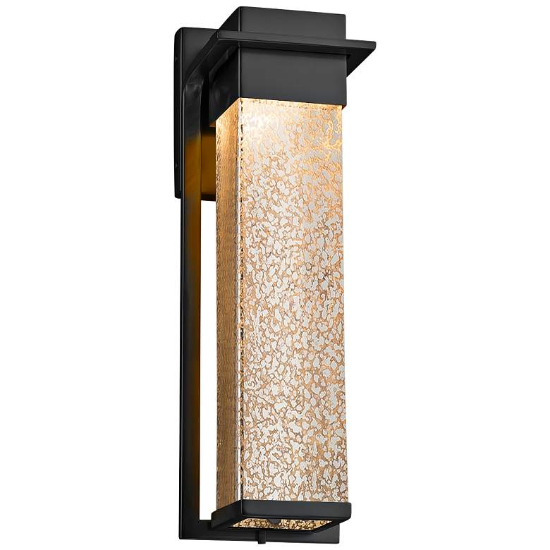 "Fusion™ Pacific 16 1/2""H Glass Black LED Outdoor"