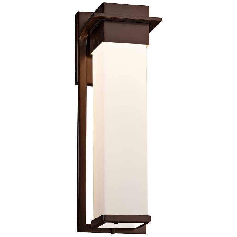 """Fusion™ Pacific 16 1/2"""" High Bronze LED Outdoor Wall Light"""