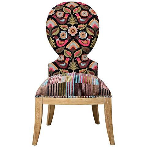 Uttermost Cruzita Multi-Color Chenille Accent Chair