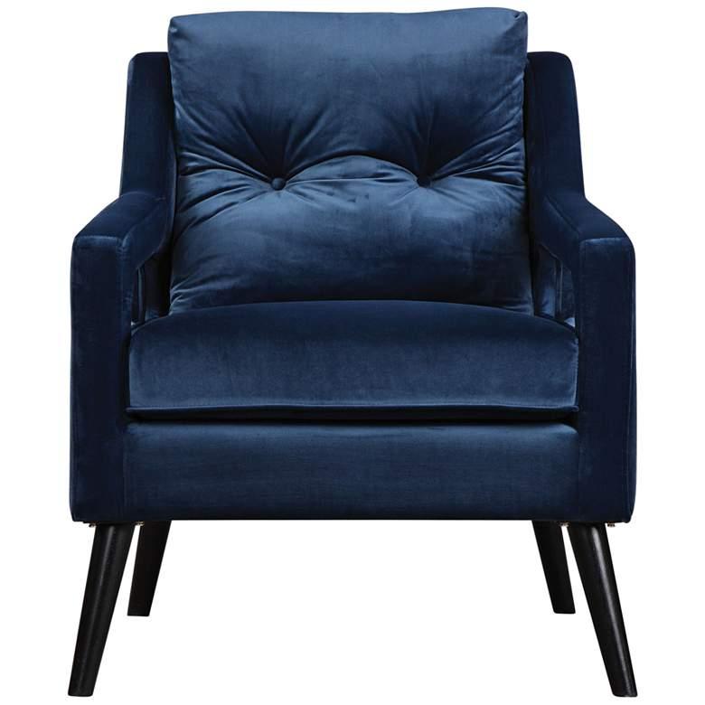 Uttermost O'Brien Ink Blue Velvet Button-Tufted Armchair