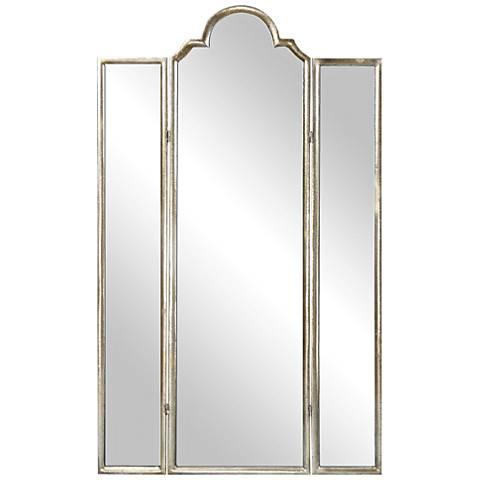 Uttermost Neema Antiqued Silver Leaf 3-Panel Mirror Screen