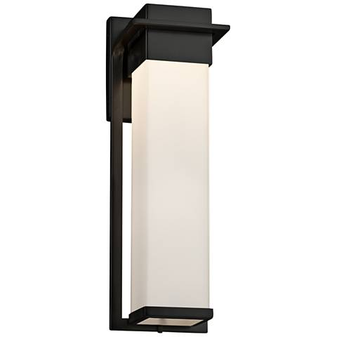 "Fusion™ Pacific 16 1/2"" High Black LED Outdoor Wall Light"
