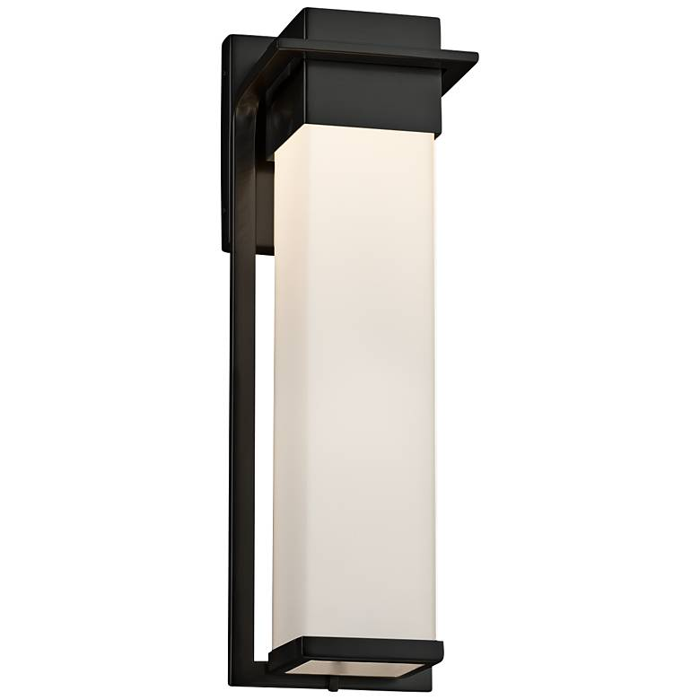 """Fusion™ Pacific 16 1/2"""" High Black LED Outdoor Wall Light"""