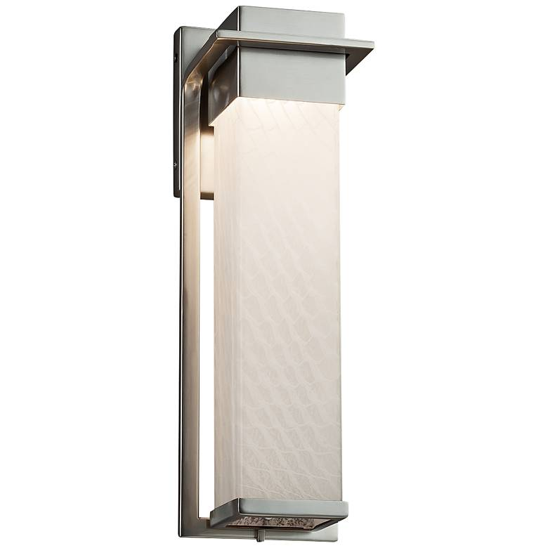 """Fusion™ Pacific 16 1/2""""H Weave Glass LED Outdoor Wall Light"""