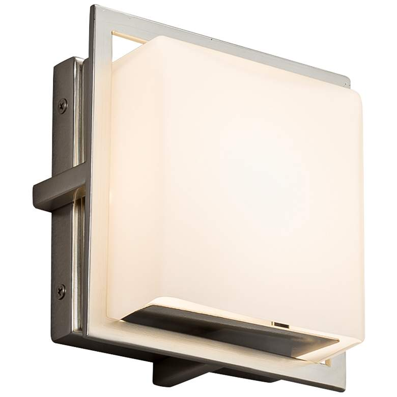 """Fusion Avalon 6 1/2"""" High Brushed Nickel LED Outdoor Wall Light"""