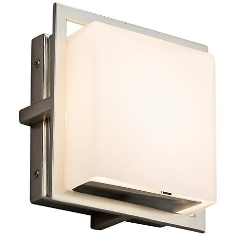 "Fusion Avalon 6 1/2"" High Brushed Nickel LED Outdoor Wall Light"