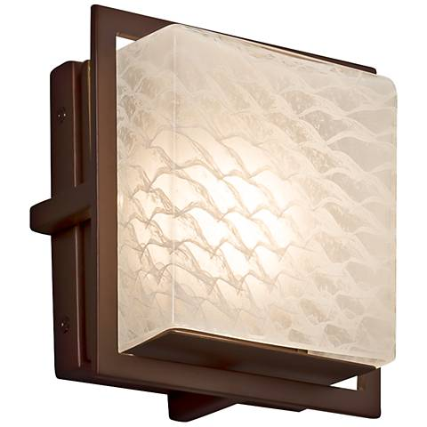 "Fusion™ Avalon 6 1/2""H Dark Bronze LED Outdoor Wall Light"