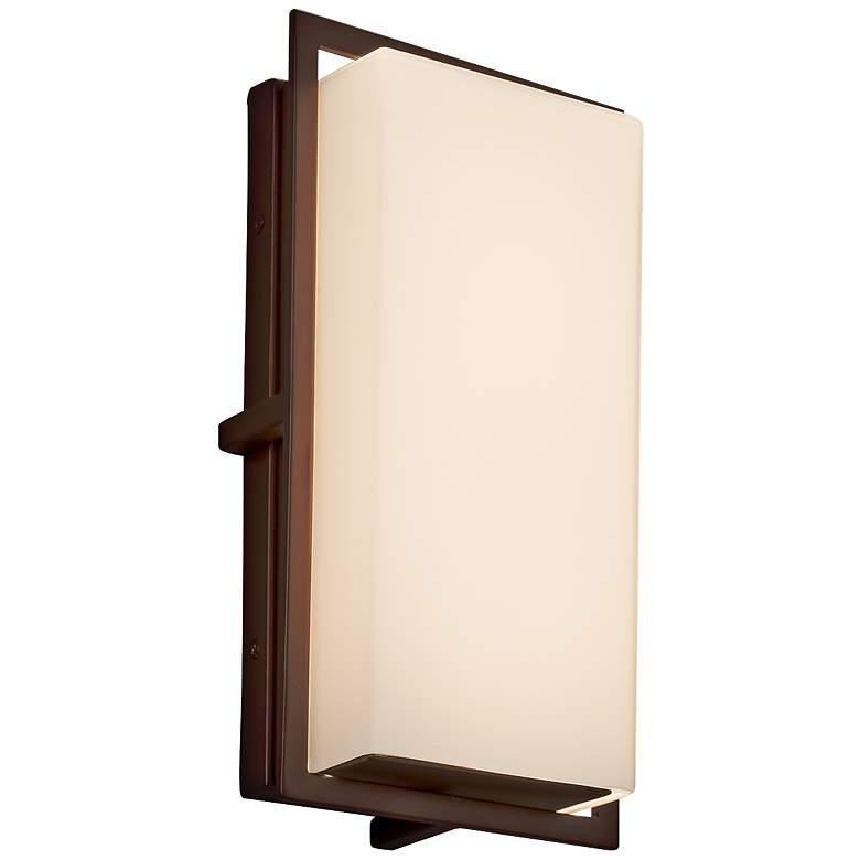 "Fusion Avalon 12"" High Opal Glass Bronze LED"