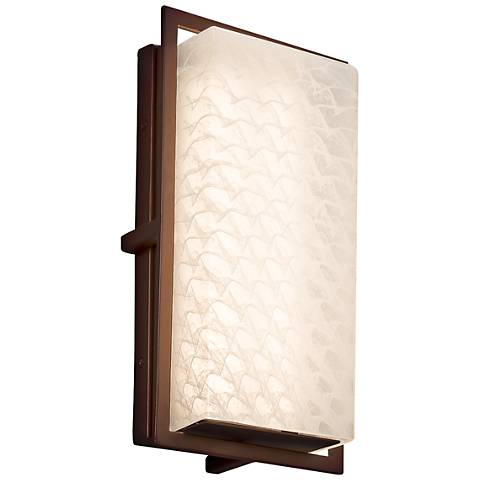 "Fusion Avalon 12""H Weave Glass Bronze LED Outdoor Wall Light"