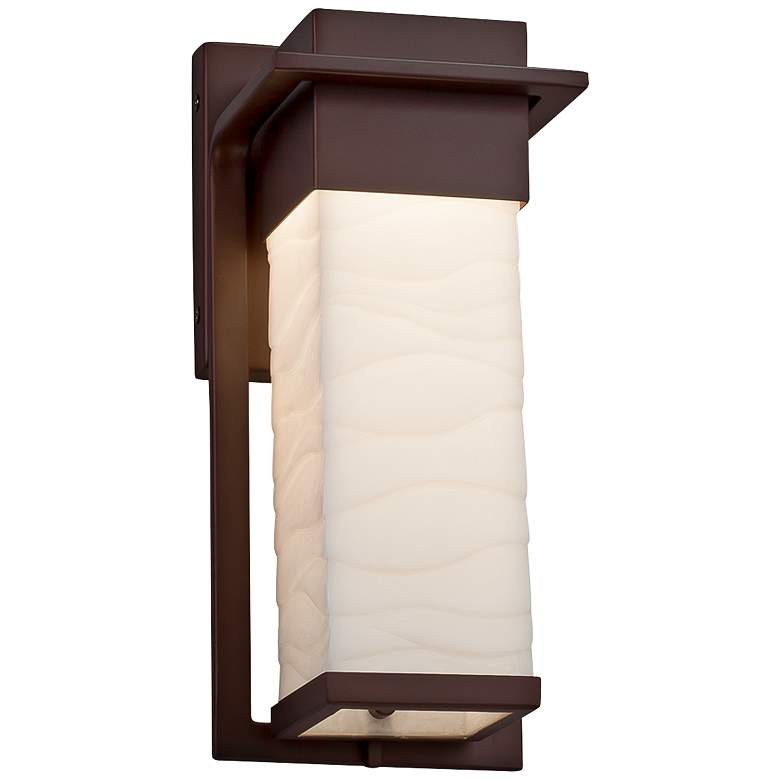 """Porcelina™ Pacific 12""""H Dark Bronze LED Outdoor Wall Light"""